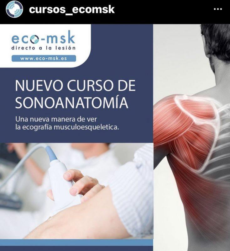 Promoción Curso Sonoanatomia Curso Eco-Msk